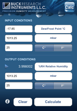 Buck Humidity Calculator For Iphone 171 Buck Research